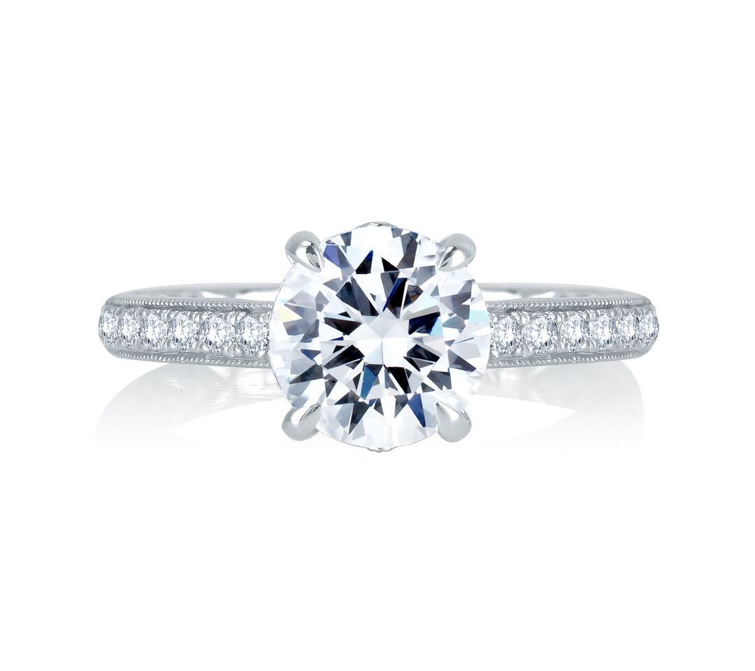 a jaffe engagement rings quilted 0 22ctw