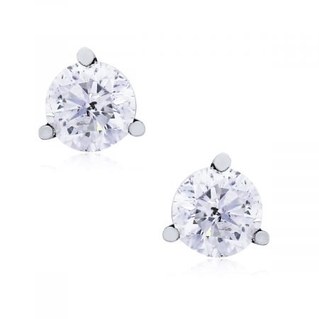 Roudnn Brilliant diamond stud earrings