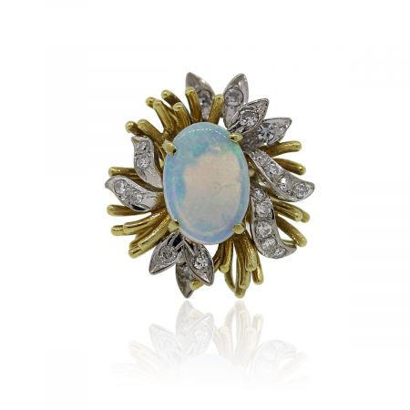 Gold Diamond & Opal Cocktail Ring