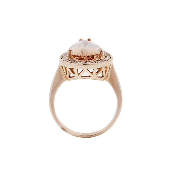 Diamond Morganite Ring
