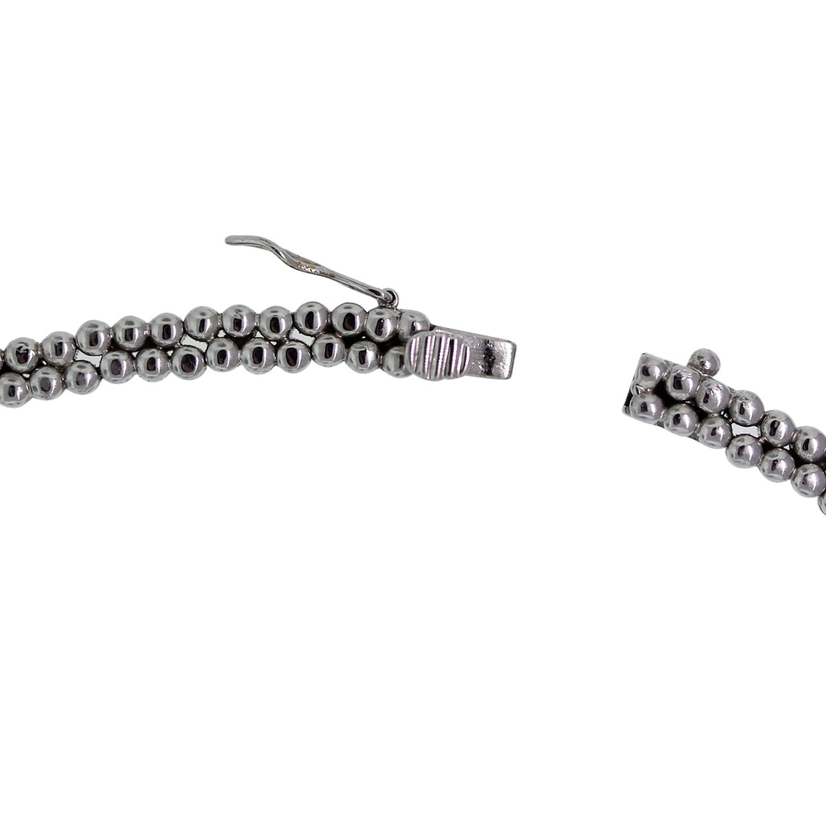 Pearl and diamond white gold necklace