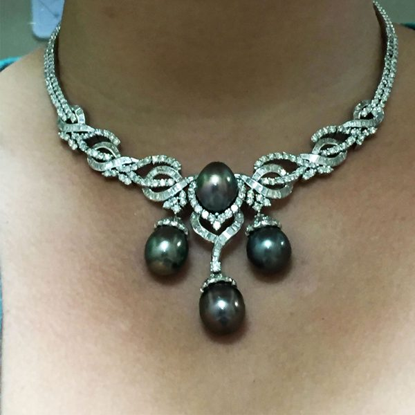 diamond and pearl necklace
