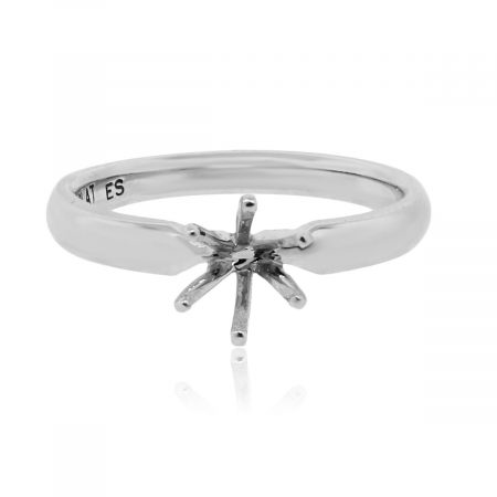 platinum solitaire 6 prong mounting