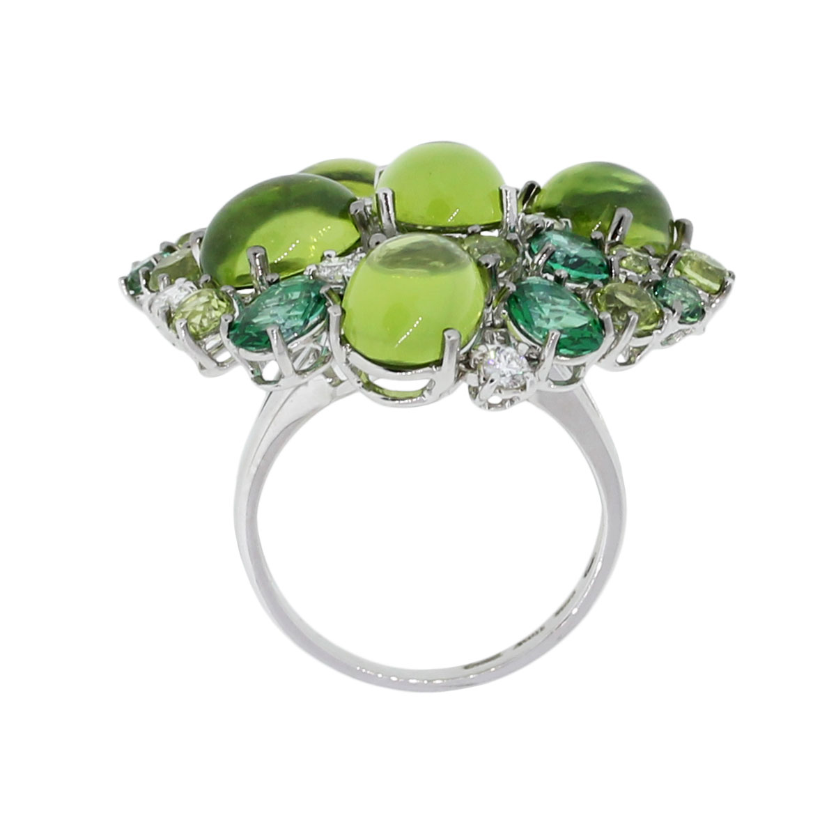 Roberto coin diamond green peridot ring