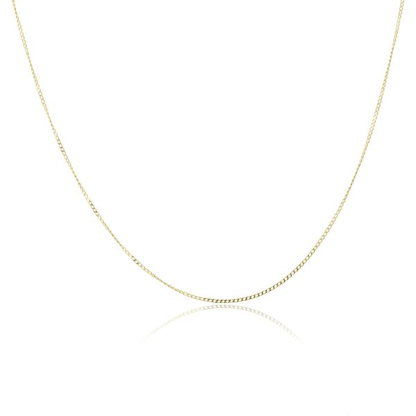 yellow gold thin chain necklace