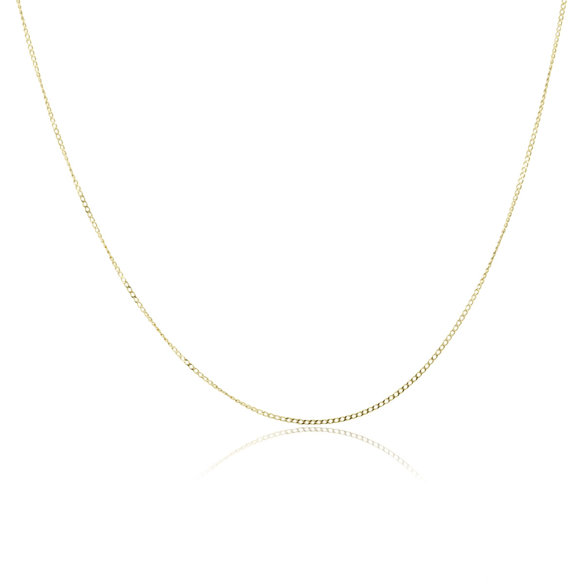 14k Yellow Gold Thin Link Chain Necklace