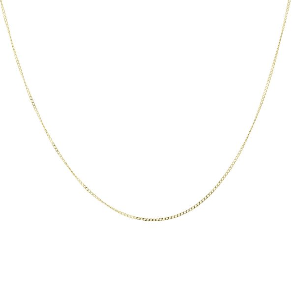 14k yellow gold thin chain necklace