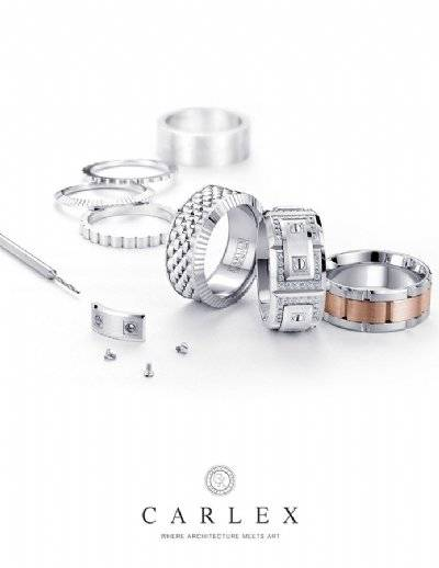 Men's wedding bands inspired by luxury watches