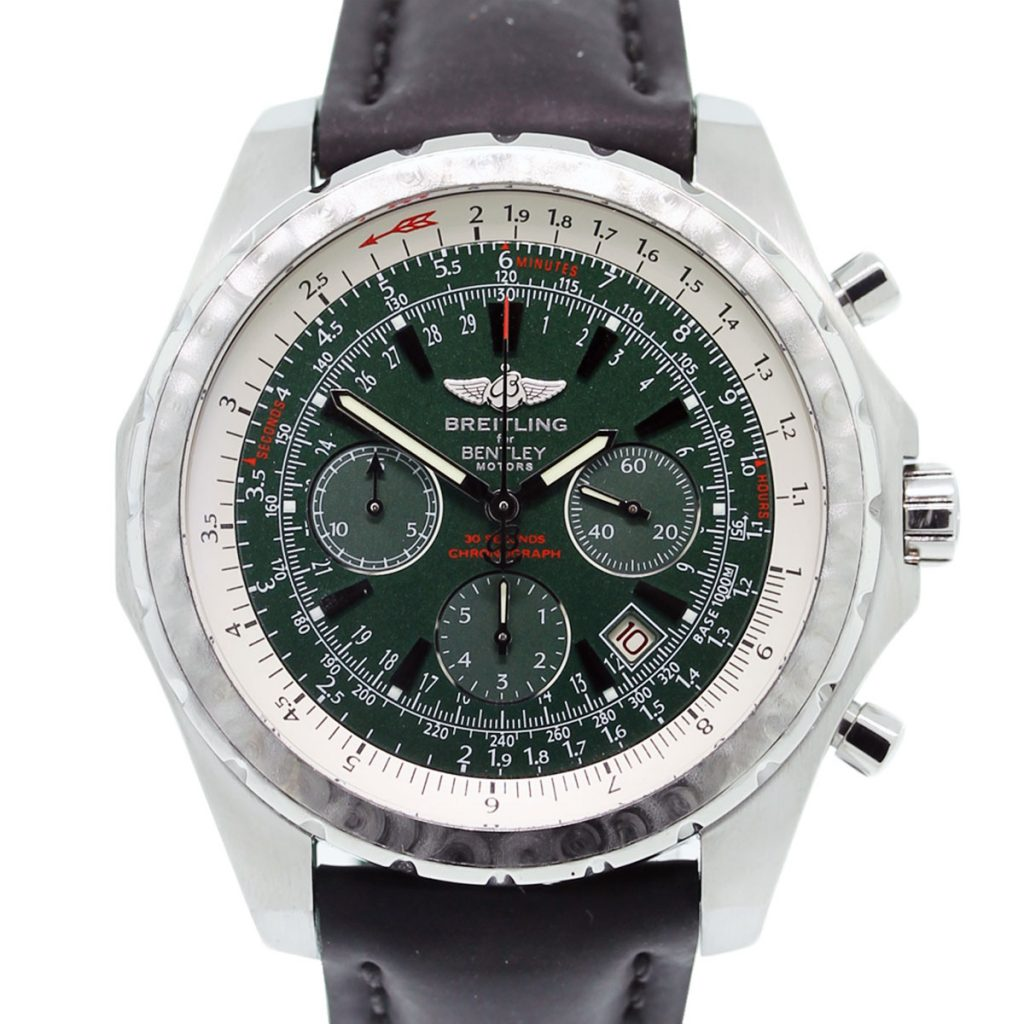 Breitling For Bentley T Motors A25363 Green Dial On Black
