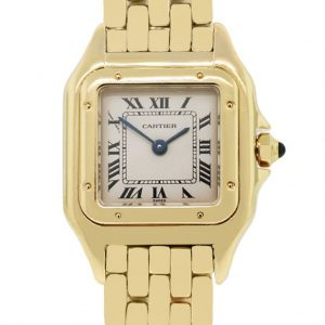 Cartier Panther 18k Yellow Gold Champagne Dial Ladies Watch