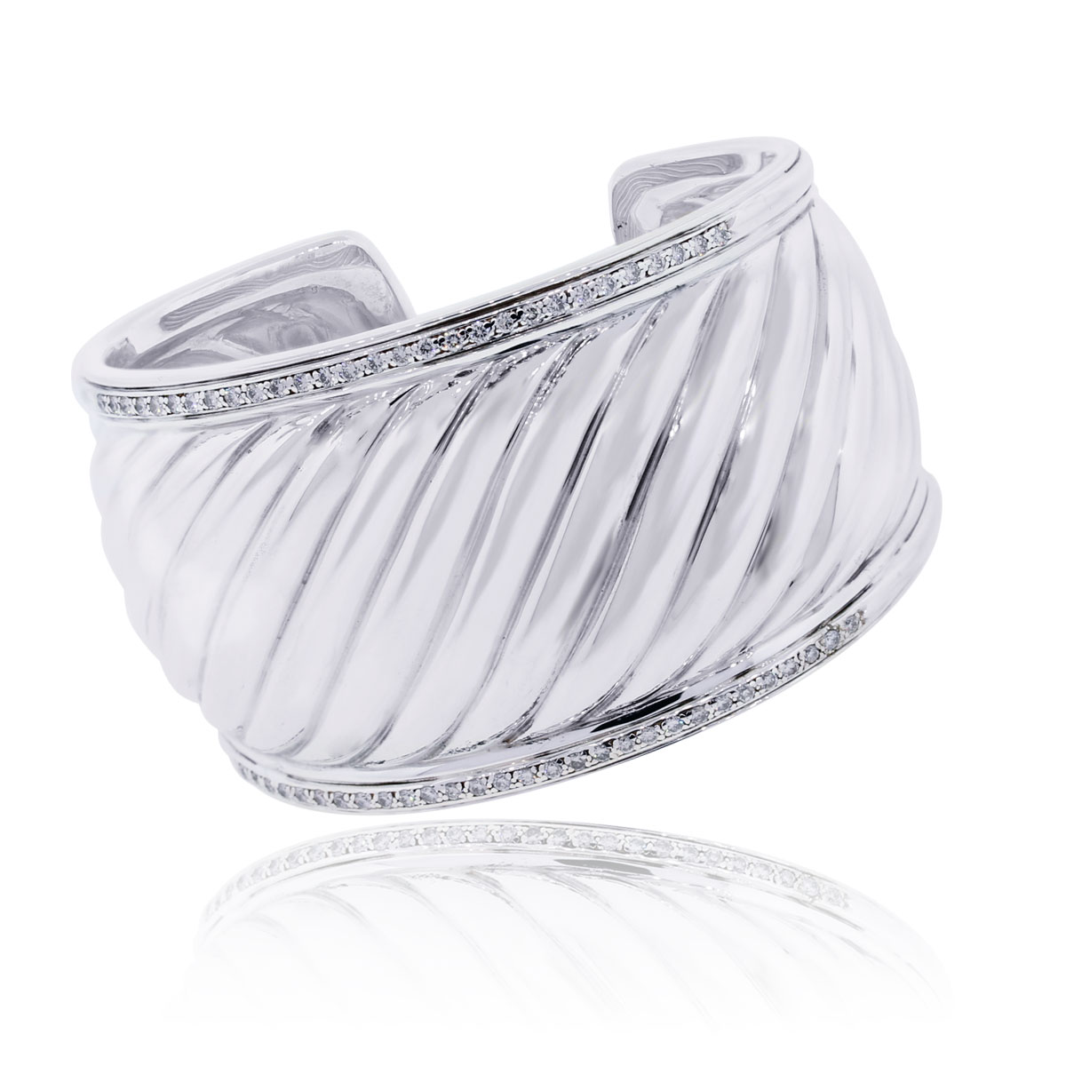 David Yurman diamond wide bangle