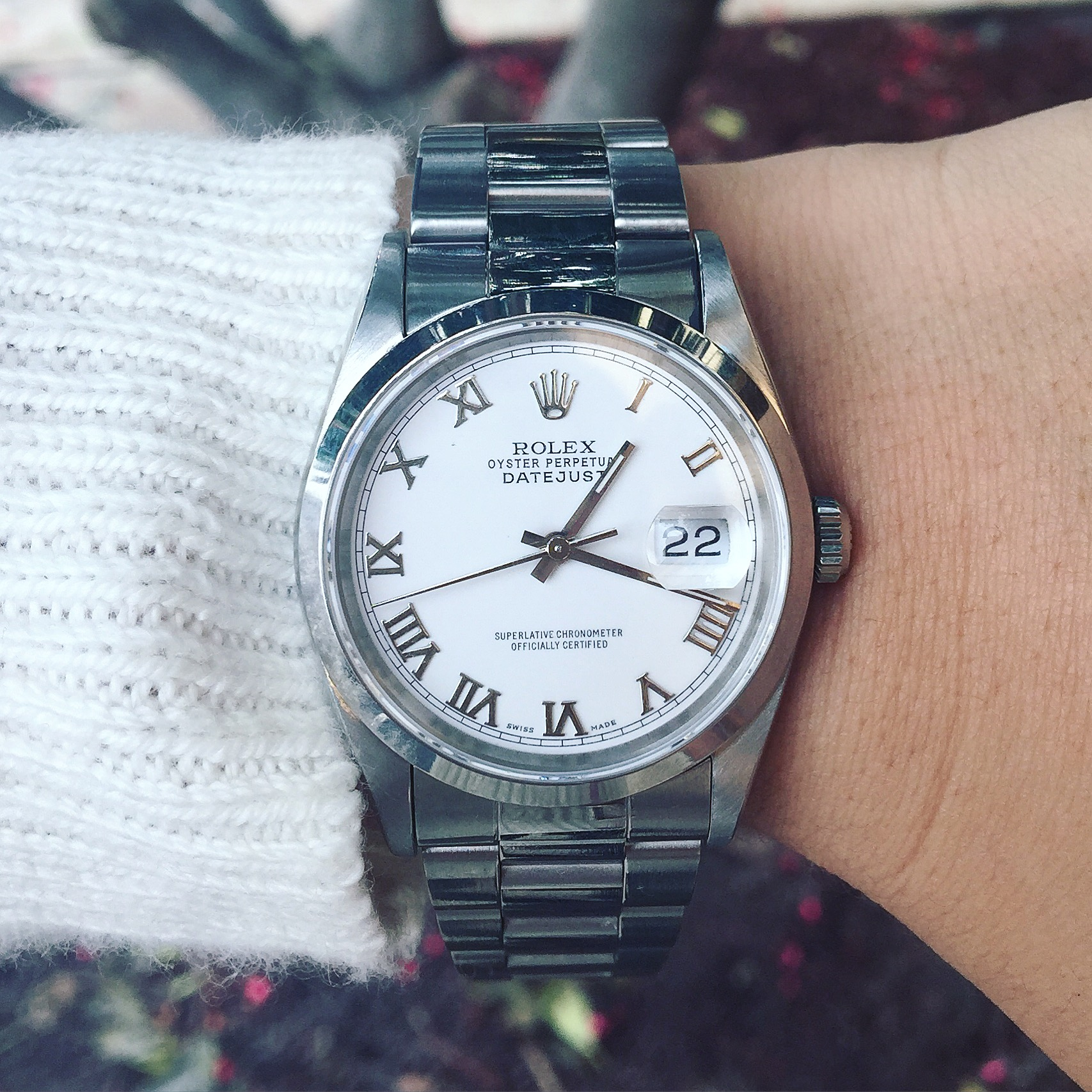 Rolex 16200 Datejust White Dial