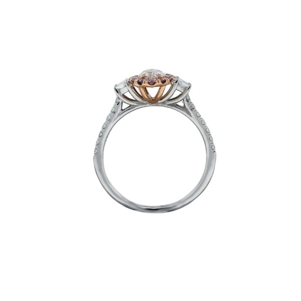 White/Rose Gold Marquise Diamond Engagement Ring