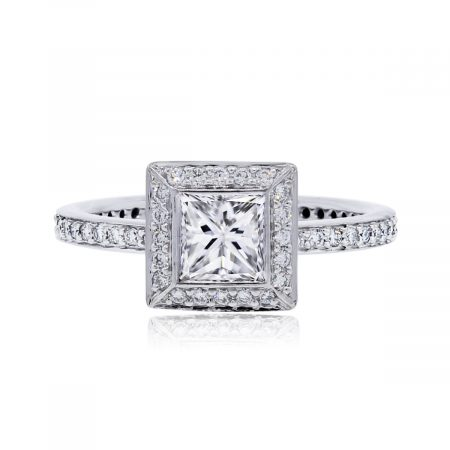 Ritani princess cut diamond ring