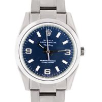 Rolex Air King 114200 Blue Dial Stainless Steel Watch