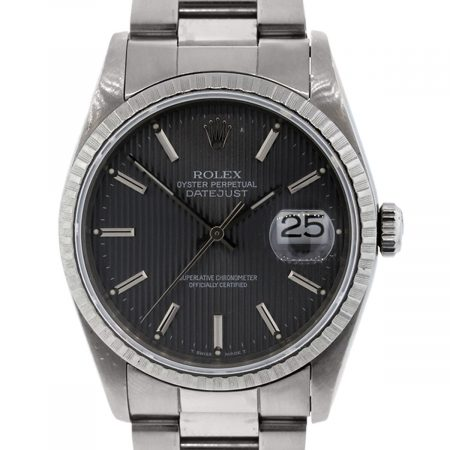 Rolex 16220 Datejust Tapestry Grey Dial Watch