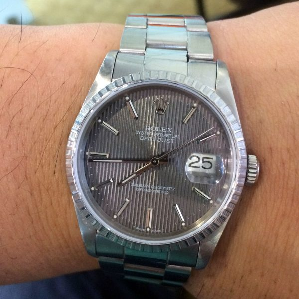 Rolex 16220 Datejust Tapestry Dial