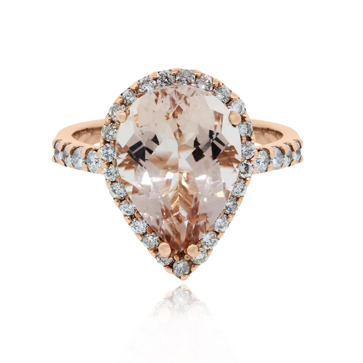Rose Gold Morganite and Diamond Cocktail Ring