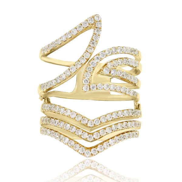 Gold Diamond Stack Ring