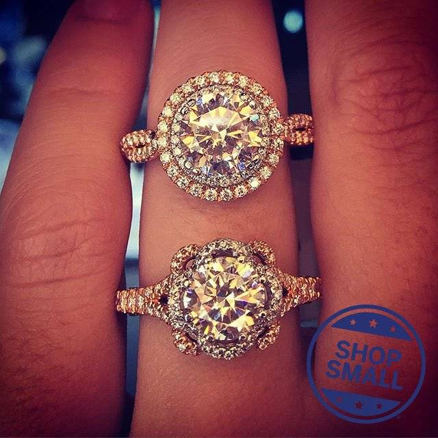 Verragio Rose gold engagement rings