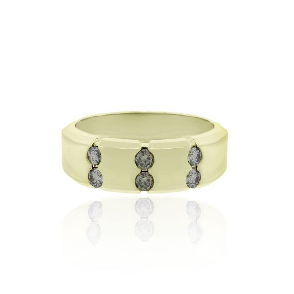 Champagne Diamonds and Yellow Gold Ring