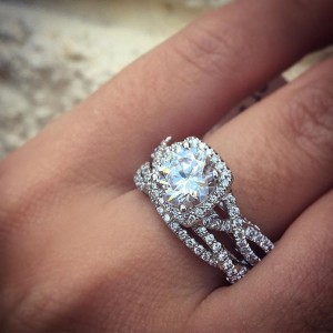 Verragio lace shank engagement ring
