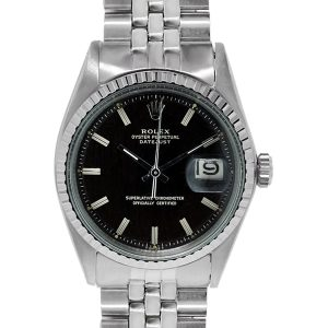 Rolex Datejust 1603 Black Stick Dial Jubilee Men's Watch