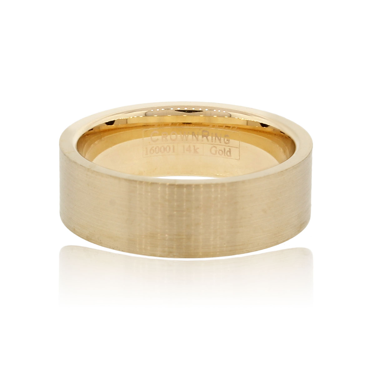 crown 14k yellow gold gents wedding band raymond lee jewelers