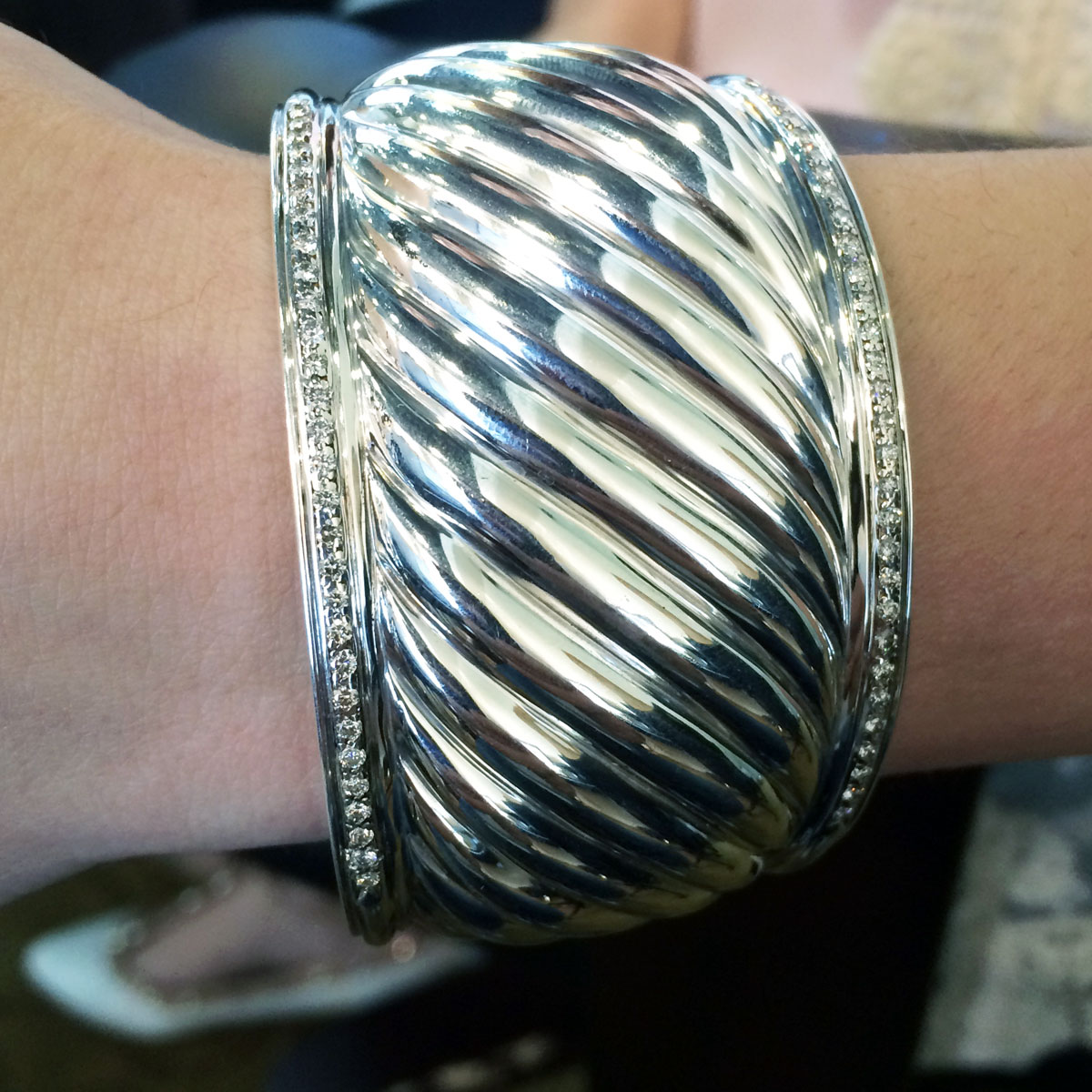 David Yurman diamond bangle cuff