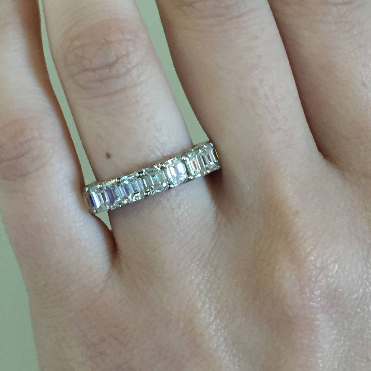 cut band product anniversary wedding round eternity princess carat bands ring stone diamond
