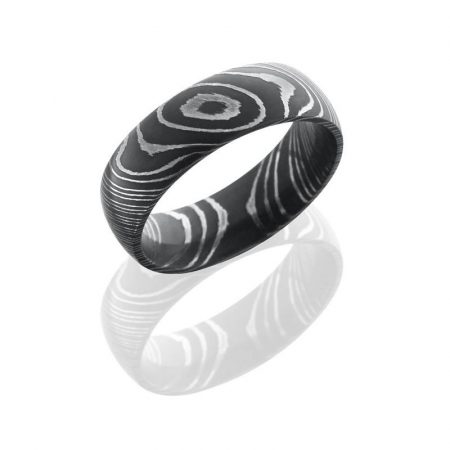 Lashbrook Damascus Steel 7mm Domed Band Boca Raton