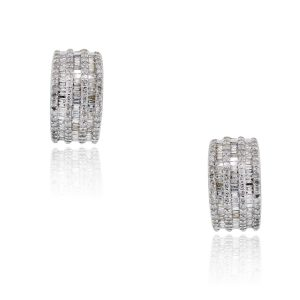 White and Yellow Gold Diamond Earrings