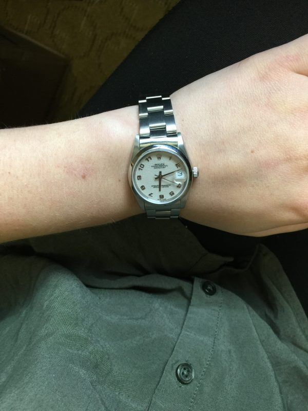 Rolex Datejust 68240 Midsize oyster band watch