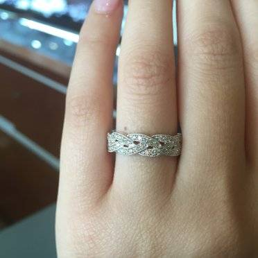 wedding me show page bands prong carat ring weddingbee w mm with band solitaire your pin diamond eternity shared engagement
