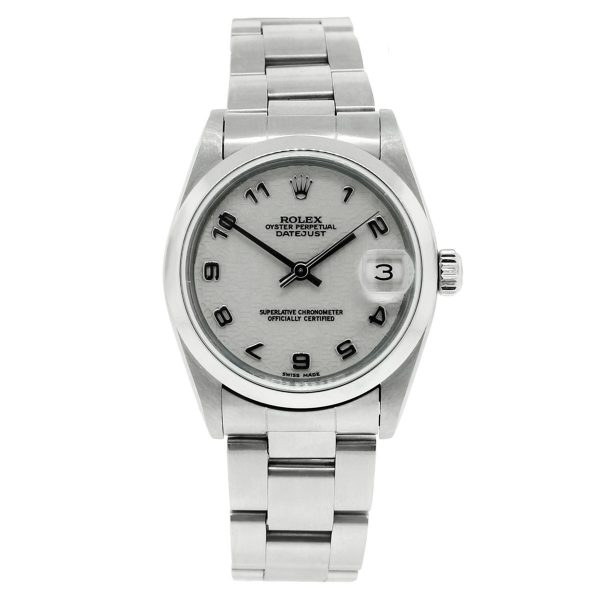 Rolex Datejust 68240 Midsize Stainless Steel Midsize Watch with Jubilee Dial