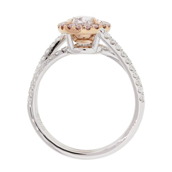 18k white and rose gold ring