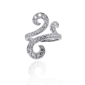 Van Cleef & Arpels Oiseaux 18k White Gold 1.1ctw Diamond Ring