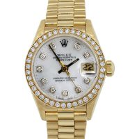 Rolex 6917 Datejust Ladies Mother of Pearl Diamond Dial and Bezel Watch