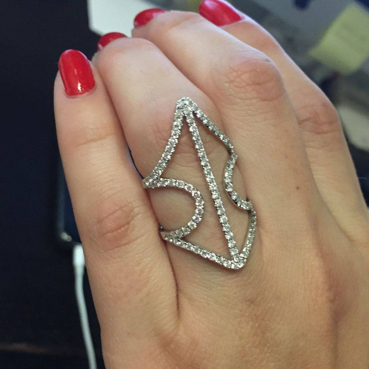 white gold and diamond pave ring