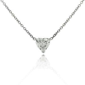 Heart Shaped Diamond Necklace GIA Certified
