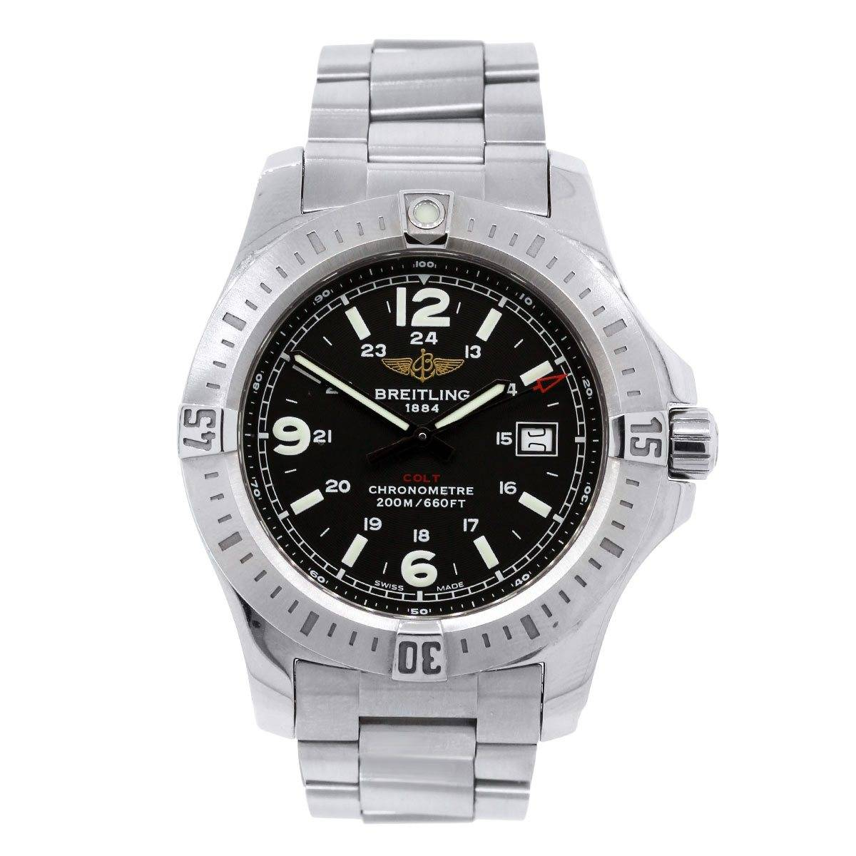 Breitling Colt A74388 Stainless Steel Black Dial Watch