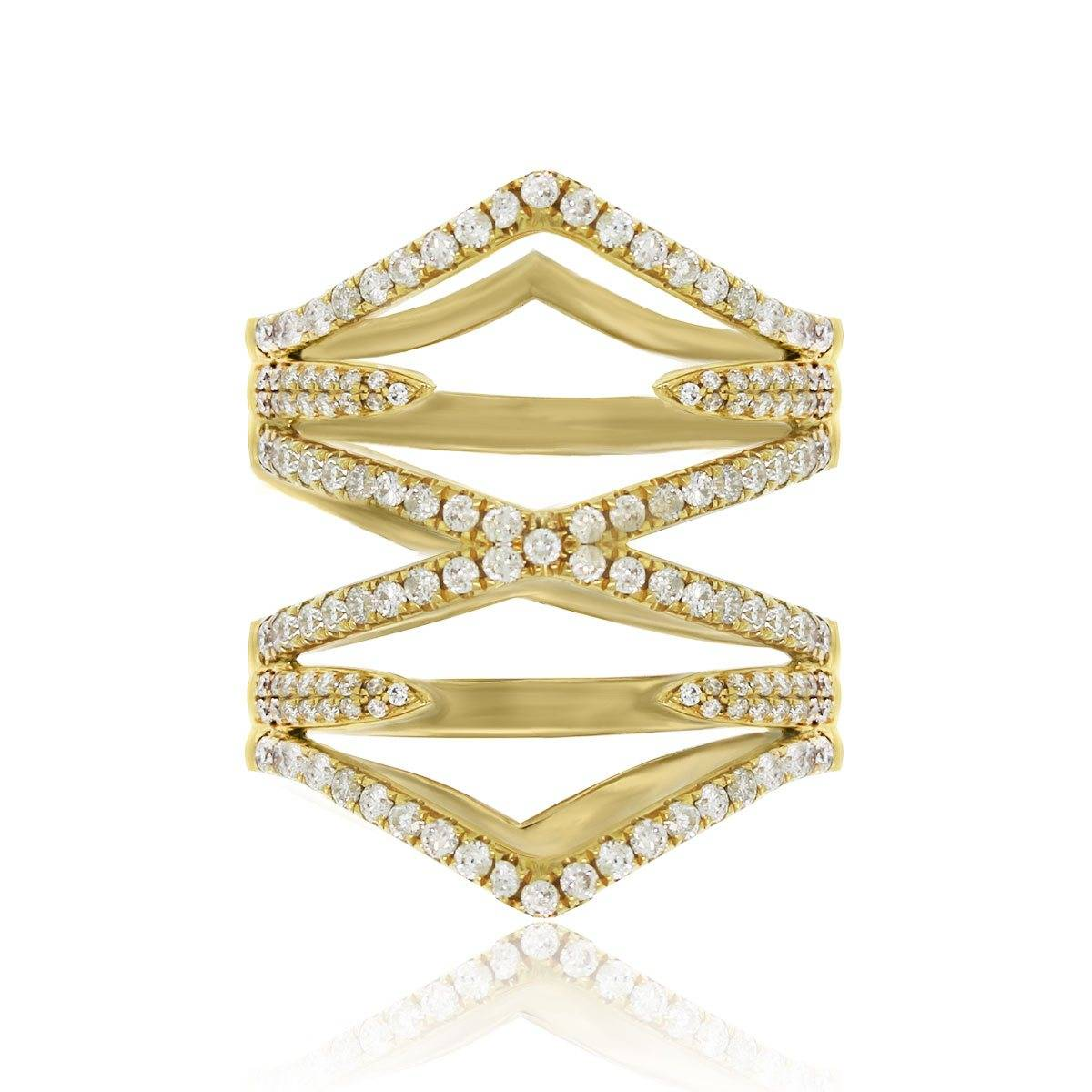 18k Yellow Gold 0.83ctw Diamond Cocktail Ring