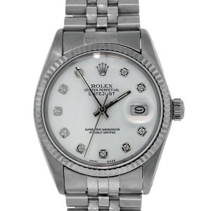 Rolex 16014 Datejust Watch Diamond Dial Markers