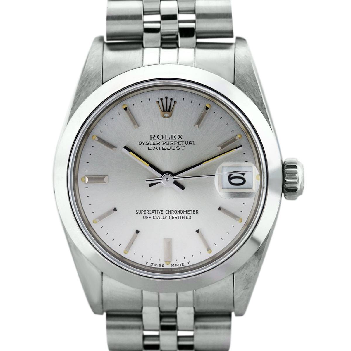 Midsize Rolex Datejust 68240 Stainless Steel Watch