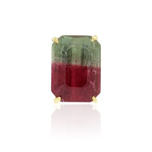 Watermelon Tourmaline Pin