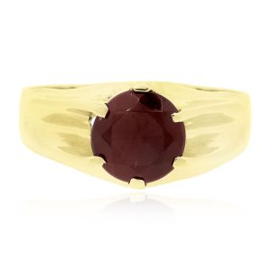 ruby ring, ruby and onyx ring, birthstone jewelry Boca Raton