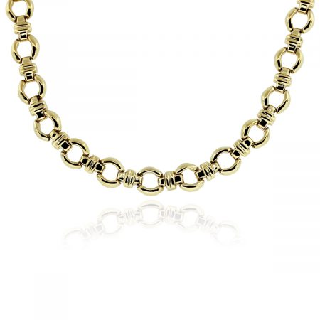 Chain Link Necklace made of Yellow Gold