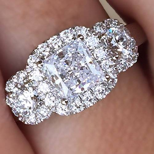 A. Jaffe .52ctw Diamond Halo Engagement Ring Mounting