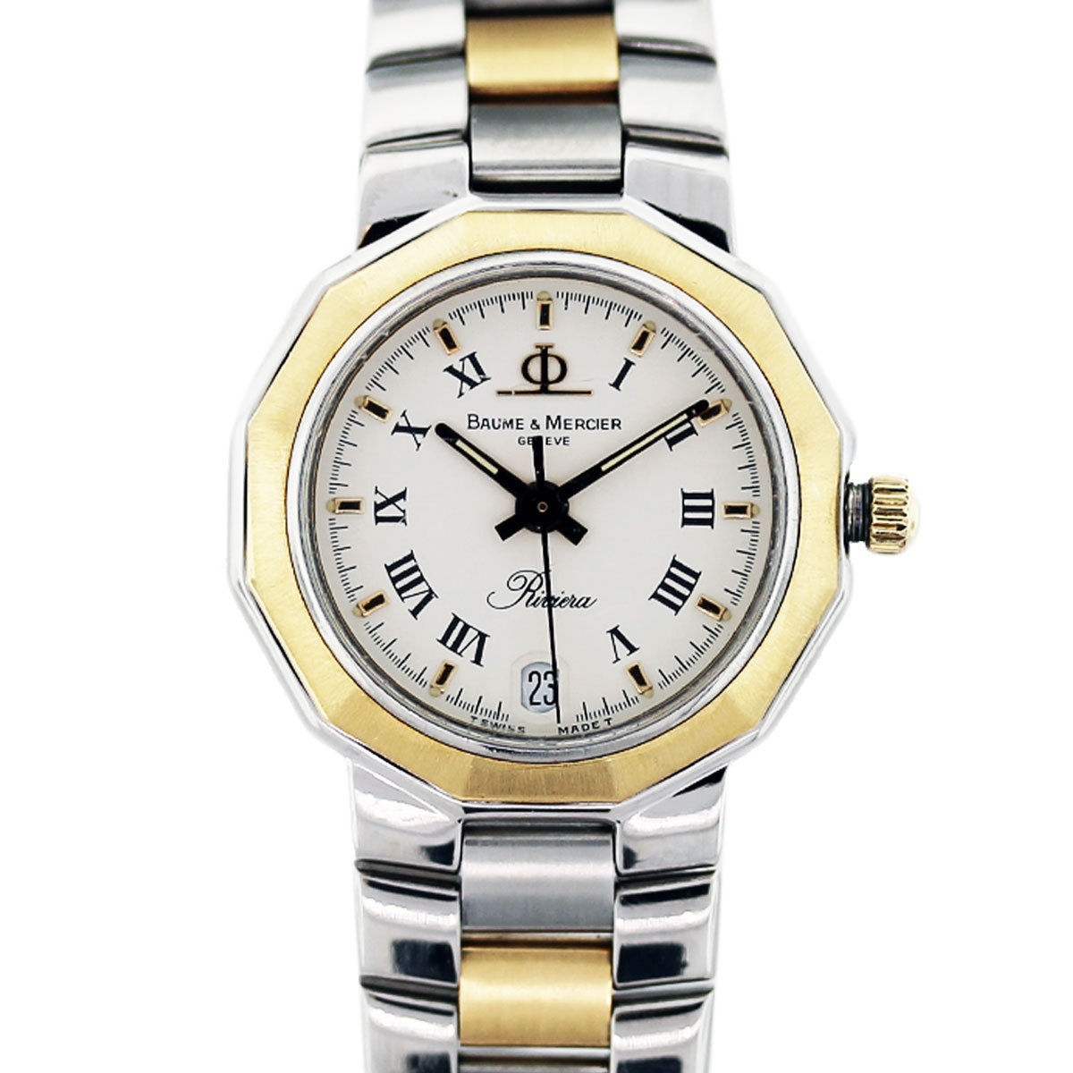 Baume Amp Mercier Riviera Ladies Two Tone Watch Raymond