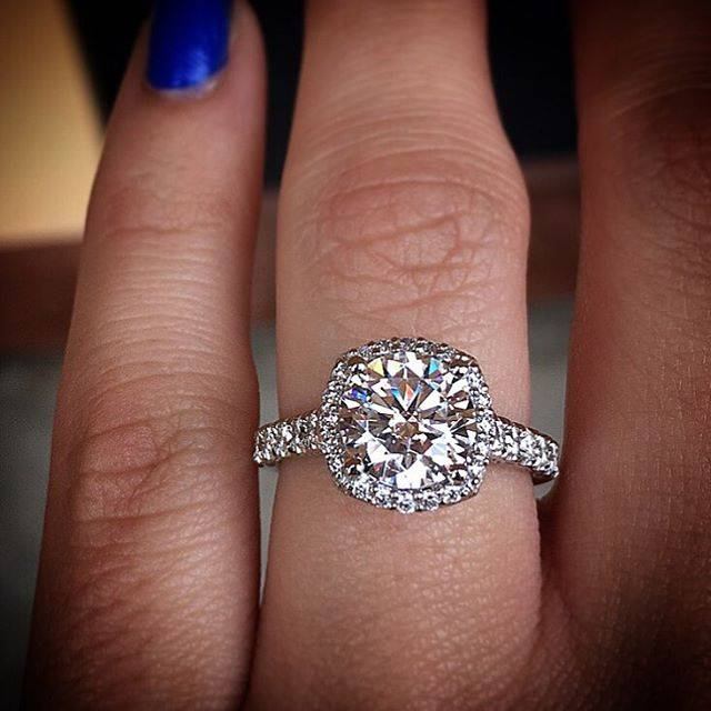 Care and keeping of your tacori enagegment ring raymond lee jewelers tacori cushion halo engagement ring solutioingenieria Images
